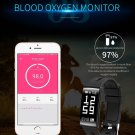 HM68 Fitness Tracker Heart Rate Blood Pressure Blood Oxygen Sports Bracelet - Black