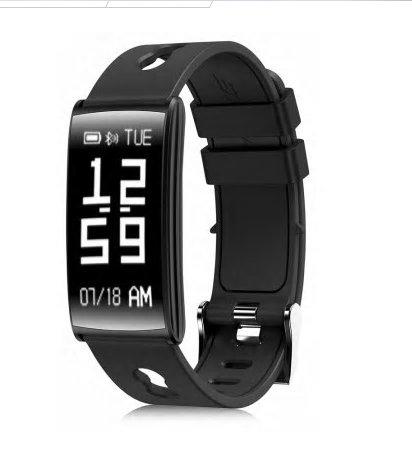 HM68 Fitness Tracker Heart Rate Blood Pressure Blood Oxygen Sports Bracelet - Black