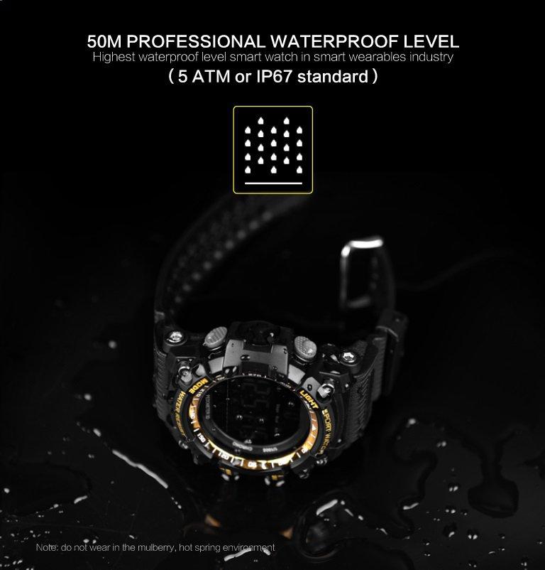 EX16 Smart Sports Fitness Watch Pedometer, Sleep, Calorie - Black