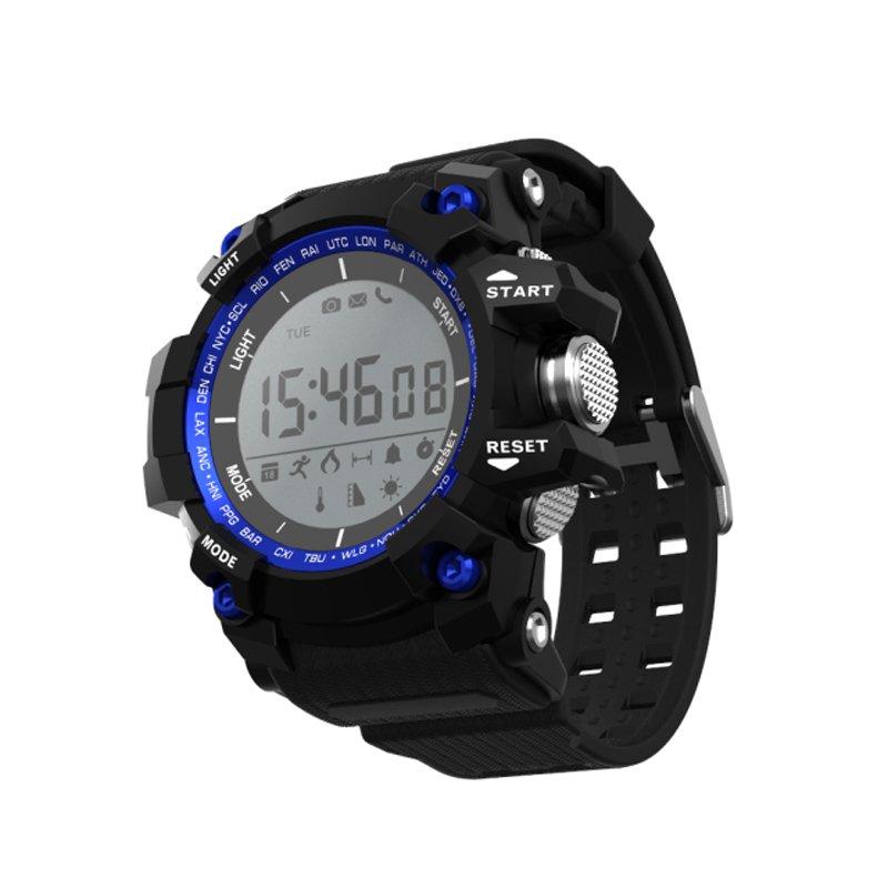 XR05 Smart Digital Watch Pedometer Sleep Monitor Altimeter Temperature UV - Blue