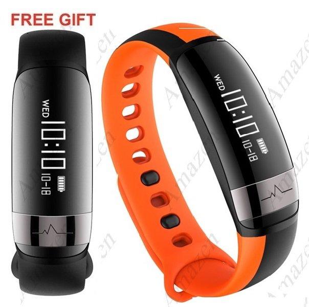 NEW MODEL! M6 Smart Health Tracker Sports Bracelet Heart Rate Blood Pressure IP67 - Orange!