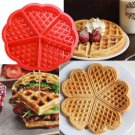 1pc Heart Shape Waffle Mold Maker 5-Cavity Silicone Oven Pan Microwave Baking Cookie Cake Muffin