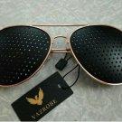 Anti-Myopia Anti-Fatigue Pinhole Sunglasses Vision Care Corrective Glasses Free Spectacle Case/Box