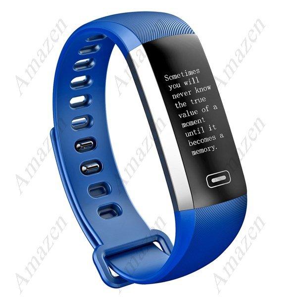 NEW MODEL! M2S PLUS Heart Rate Blood Pressure Oxygen Activity Tracker-Smart Bracelet - Blue