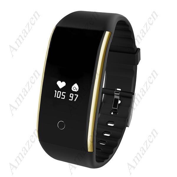 FT 9 Smart Bracelet Heart Rate Blood Pressure Blood  Oxygen Activity Tracker Watch - Black