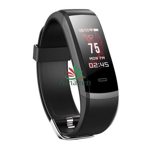 HR3 Smart Bracelet Continuous Heart Rate Monitor TFT Color IP67 - Black