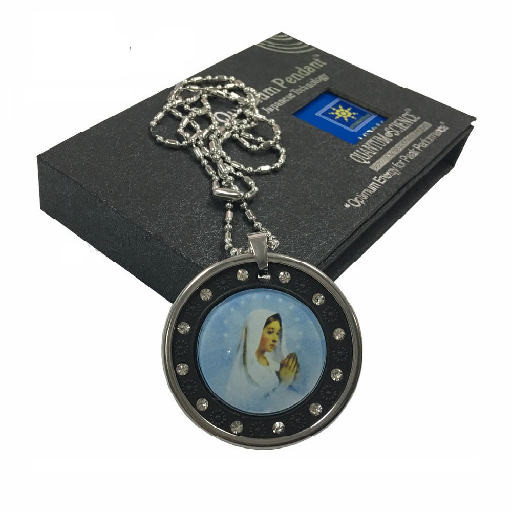 Virgin Mary Powerful Quantum Scalar Energy Pendant w Stainless Steel Chain 3000cc Negative Ions