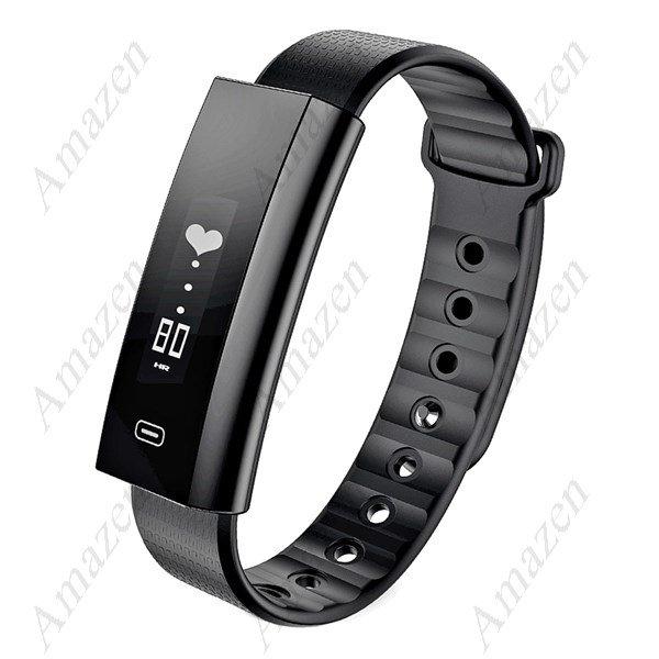 Latest! Zeblaze Arch Blood Oxygen Pressure Heart Rate Monitor Watch - Black