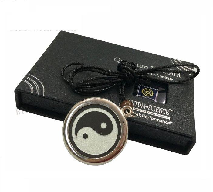 Taiji Pendant Lava Scalar Energy Yingyang Charm With Free Necklace