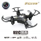 FQ777-951C Headless Mode c/w 0.3MP Camera 2.4GHz 4CH 6-Axis Gyro RC Quadcopter RTF 3D-flip- Black