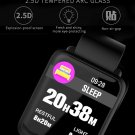 H23 Protective Screen Blood Oxygen Pressure Heart Rate Bluetooth Sports Smart Watch - Black
