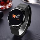 Newwear Q8 Stainless Steel OLED  Heart Rate Blood Pressure Fitness Tracker Smart Watch - Black