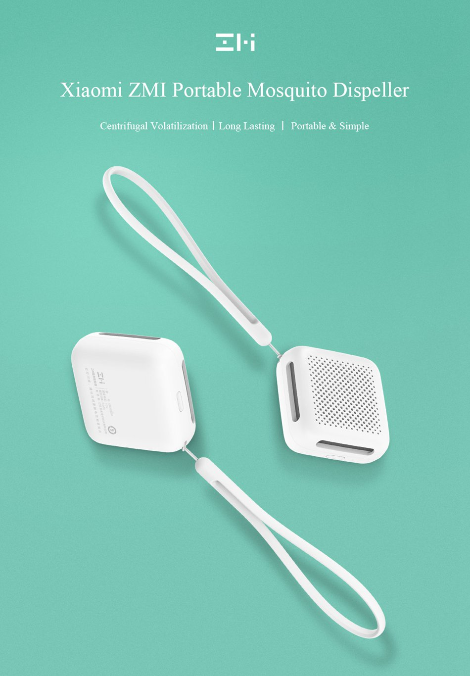 XIAOMI Mosquito Repeller Portable Indoor, Outdoor, Travel, Camping etc - Battery Operated