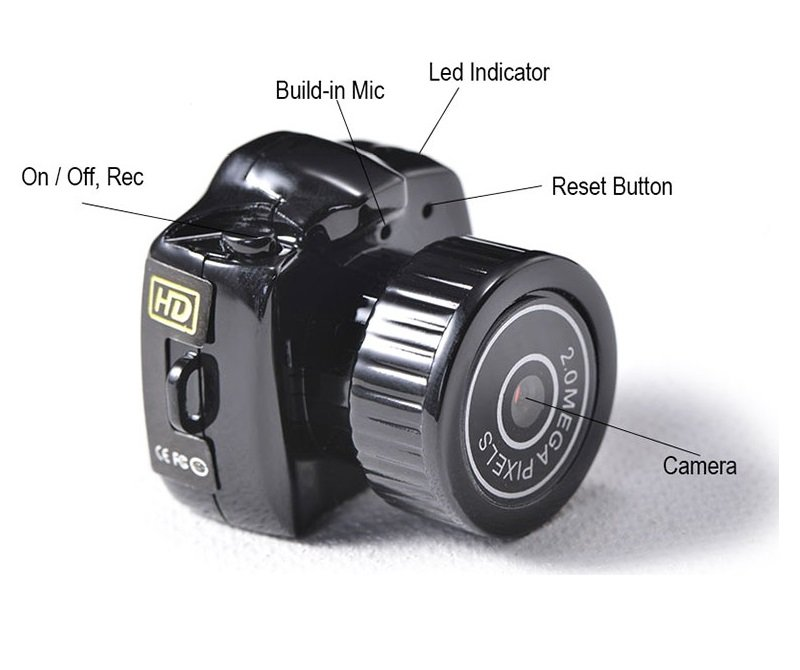 Y2000 Mini HD Video Camera 480P Mini Pocket DV DVR Small Portable Camcorders Micro Digital Recorder