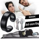 Anti Snore Ring Magnetic Therapy Acupressure Ring - Black