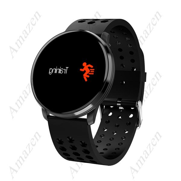 "M9 0.96"" HD Blood Pressure Oxygen Heart Rate Smart Sports Bracelet - Black"