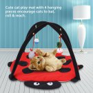 Cat Play Mat/Cat Tent Activity Center c/w hanging cute toys