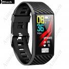 ZDT58 ECG Heart Rate Monitor IP68  1.14in Large Screen Smart Bracelet Multi UI Display - Black