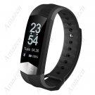 CD01 ECG Blood Pressure Heart Rate Fitness Tracker Smart Bracelet  - Black