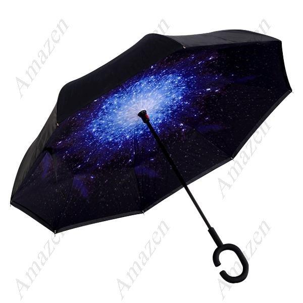 Double Layer Inverted Umbrella Windproof & Rain proof Reverse Folding Umbrella