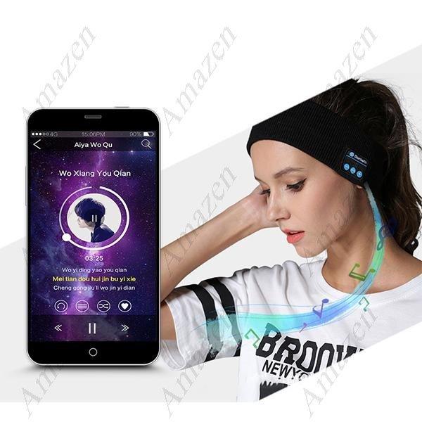 BTH V4.2 Music Sports Headband with Built-in Speaker - Choice of Black, Dark Grey and Light Grey