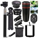 10 in 1 Smartphone Camera Lens Cell Optical Telescope Kit Mobile Kit with Clip
