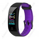 Smart Bracelet Fitness Tracker 24 Hr Heart Rate Monitor with Women Psychological reminders - Purple