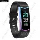 NEW! LV08-HR Heart Rate Monitor Color Gradient IP67 BTH4 Smart Fitness Sports Bracelet - Black