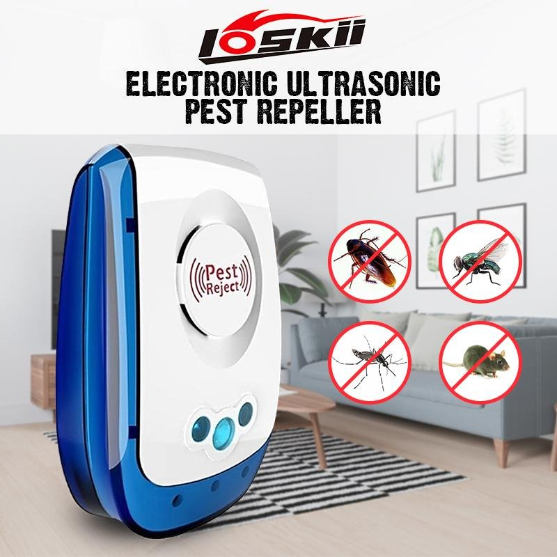 Loskii HP-101 Electronic Indoor Ultrasonic Plug LED  Anti Mosquito Insect Repeller