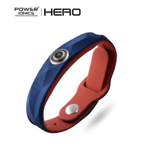 New! Captain America Super Hero Power Ionics 3000 ions Sports Titanium Bracelet Wristband