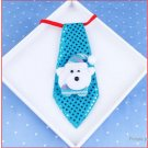 Merry Christmas Creative Gift Glowing Bow Tie - White Teddy Bear