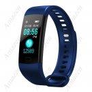 Fitness Tracker Smart Bracelet Heart Rate Blood Pressure Blood Oxygen Monitor Y5 Blue