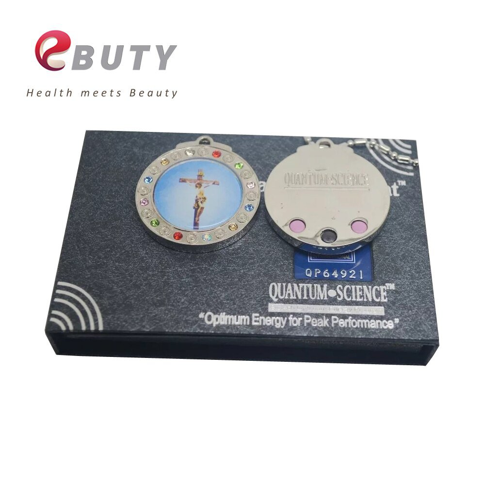 New! Jesus Christ Quantum Scalar Energy Pendant with Stainless Steel Chain Negative Ions