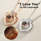 NEW! I Love You Necklace, 100 Languages Projection Love Pendant