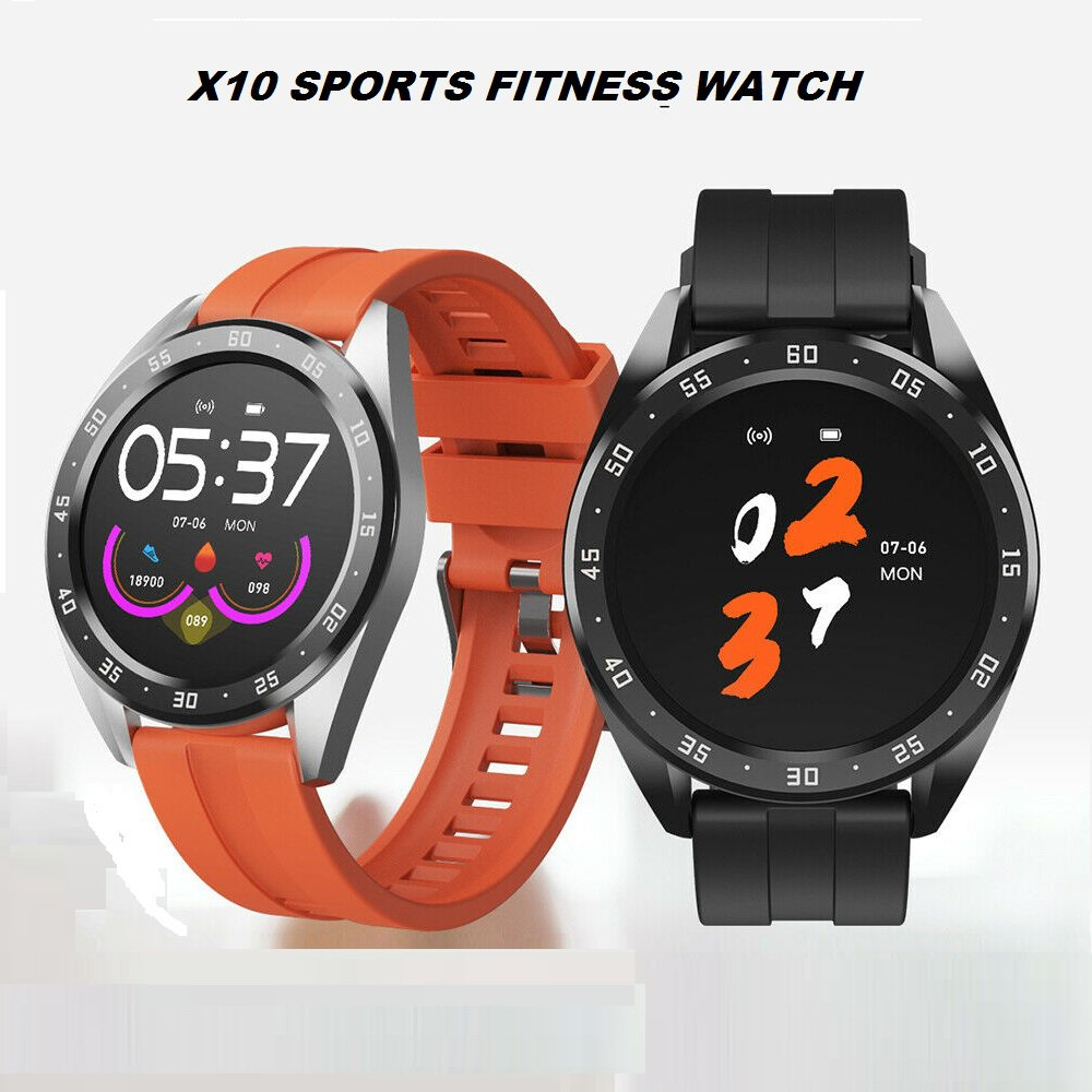 """New! X10 1.3"""" IPS Touch Screen Bluetooth V4.0 Sports Smart Watch"""