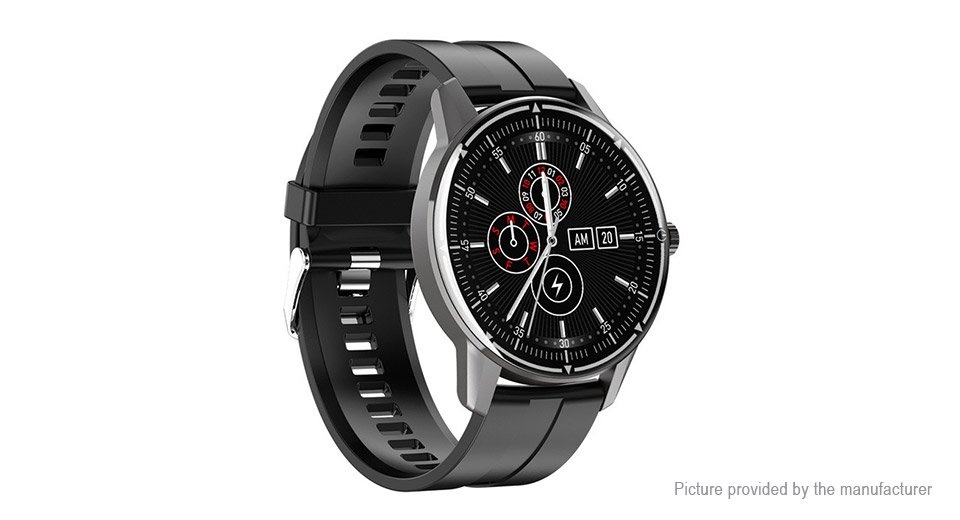 R8 Multi Sport Smart Watch Heart Rate Blood Pressure Blood Oxygen Monitor, Music Control - Black