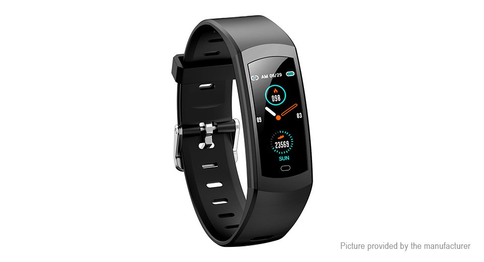 TS08 0.96� IPS  Smart Bracelet Heart Rate, Blood Pressure, Music Control - Black
