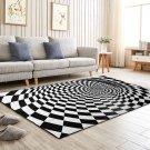 3D Room Non-slip Swirl Optical Illusion Area Rug Carpet Floor Mats - 120x160cm