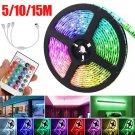 12V LED Light Strip 5M RGB LED Tape Lights with Remote! DIY household lights