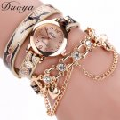 New Arrival! Women Fashion Bracelet Watch Ladies Dress  Leopard Bracelet Quartz Braided