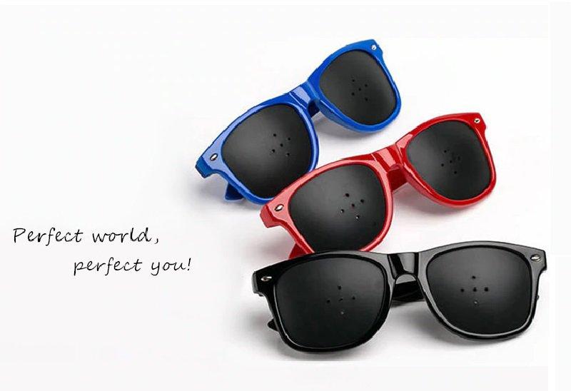 Set of 3 - Anti Fatigue Anti Myopic Astigmatism Vision Improve Eyesight Pinhole Eye Care Glasses