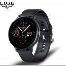 2021 Model Smart Call Watch Heart Rate Blood Pressure Blood Oxygen Music Player IP68 - Black