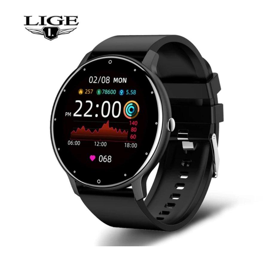2021 Model Smart Call Watch Heart Rate Blood Pressure Blood Oxygen - Black