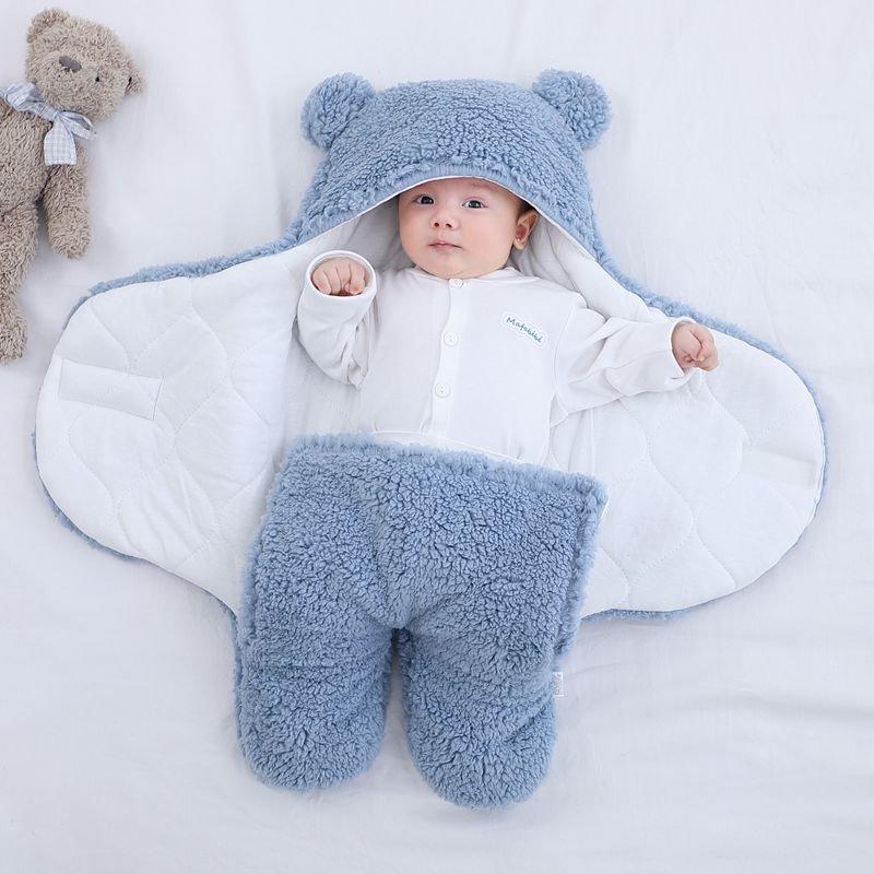 Ultra-Soft Fluffy Fleece Blanket Nursery Swaddle Wrap Baby Cocoon - Fleece/Flannel
