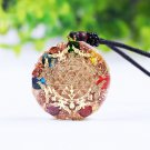 7 Chakra  Luminous Orgone Pendant Necklace Reiki Healing Crystal Copper Emf Pr