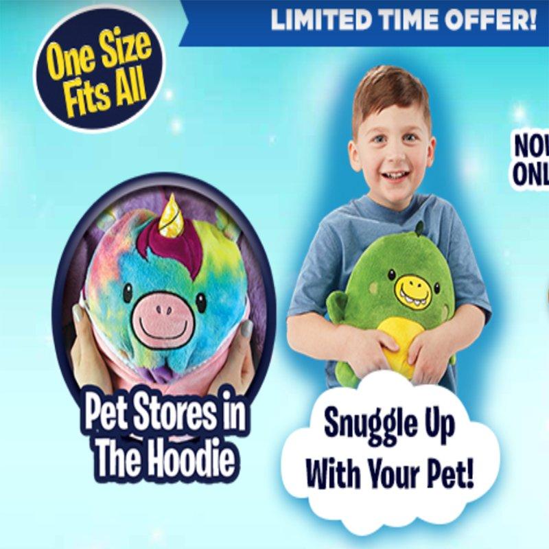 Kids Hoodies - Pet design onvertible to Kids Hoodies!