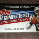 2011 TOPPS COMPLETE FOOTBALL SET   440 CARDS PLUS 1 PACK OF ROOKIE CARDS