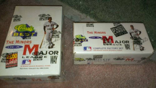 1991 CLASSIC BEST BASEBALL CARD SEALED BOX QTY 2+COMPLETE SET-POSS,SCHMIDT AUTO