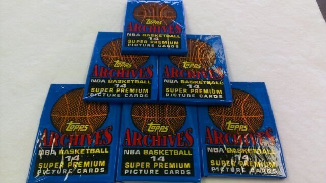 1981-91 TOPPS ARCHIVES BASKETBALL PACKS QTY.6-POSS.M. JORDANS TOPPS ROOKIE CARDS