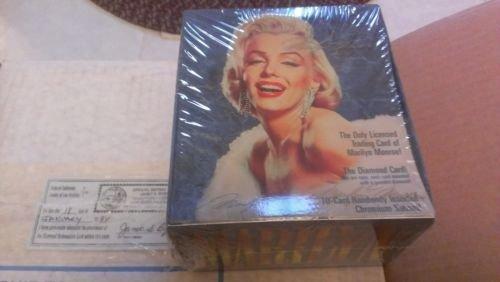 1993 MARILYN MONROE TRADING CARDS SEALED BOX-36 PACKS-POSS.DIAMOND-CHROMIUM CARD